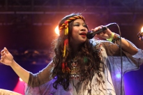 Zee Avi performing at the 2012 Rainforest World Music Festival in Sarawak, Borneo. 