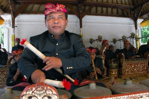 The gamelan orchestra is key to the event. (Photo by Maria Bakkalapulo)