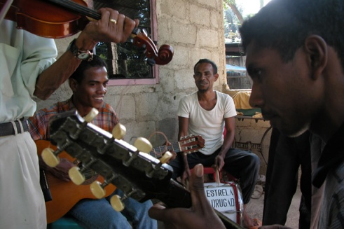Manuel started the group a year ago and is encouraging the younger generation in East Timor to play this acoustic style of music.(Photo by Maria Bakkalapulo)