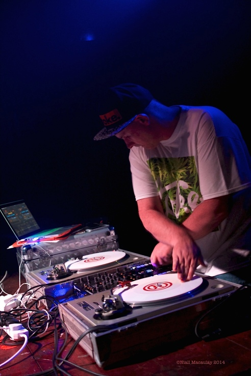 Steg G. warming up the crowd for Grandmaster Flash. Photo by Niall Macaulay