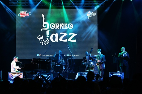 Anthony Strong on stage at Borneo Jazz. Photo courtesy of the Sarawak Tourism Board.